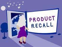 Muestra del texto que muestra retirada de productos Petición conceptual de la foto de una compañía de volver el producto debido a libre illustration