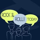 Muestra del texto que muestra rock-and-roll Tipo musical del género de la foto conceptual de sonido pesado popular del golpe de l stock de ilustración