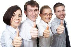 Muestra del Thumbs-up Fotografía de archivo
