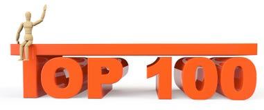 Muestra del top 100 con el maniquí Fotos de archivo libres de regalías