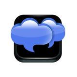 Muestra del uso de la burbuja de la comunicación de discurso dos aislada ilustración del vector