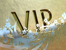 Muestra del VIP del oro Foto de archivo libre de regalías