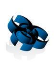muestra del virus 3d Fotos de archivo libres de regalías