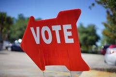 Muestra del voto de la elección Imágenes de archivo libres de regalías