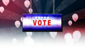 Muestra del voto en fondo stock de ilustración