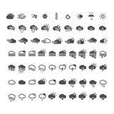 Muestra del web de la nube del botón del tiempo de los iconos de Meteo Imágenes de archivo libres de regalías