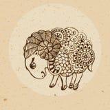 Muestra del zodiaco - aries Foto de archivo