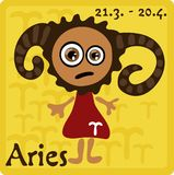 Muestra del zodiaco - aries Foto de archivo libre de regalías