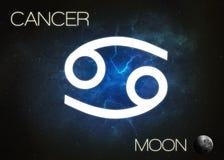 Muestra del zodiaco - cáncer Imágenes de archivo libres de regalías