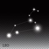 Muestra del zodiaco de Leo de las estrellas brillantes hermosas Foto de archivo libre de regalías
