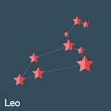 Muestra del zodiaco de Leo de las estrellas brillantes hermosas Fotos de archivo libres de regalías