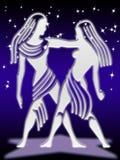 Muestra del zodiaco de los géminis Fotografía de archivo