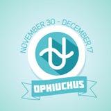 Muestra del zodiaco de Ophiuchus Imagen de archivo