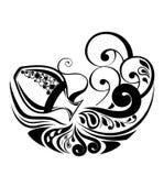 Muestra del zodiaco del acuario. Diseño del tatuaje. Fotografía de archivo