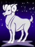 Muestra del zodiaco del aries Imágenes de archivo libres de regalías