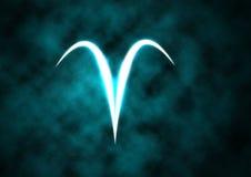 Muestra del zodiaco del aries ilustración del vector