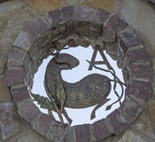 Muestra del zodiaco del aries como la decoración exterior Imagenes de archivo