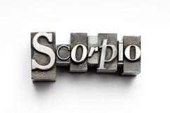 Muestra del zodiaco del escorpión Imágenes de archivo libres de regalías