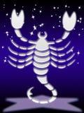 Muestra del zodiaco del escorpión Foto de archivo libre de regalías