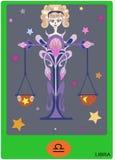 Muestra del zodiaco del libra Foto de archivo libre de regalías