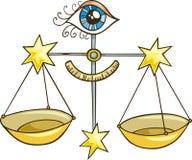 Muestra del zodiaco del libra ilustración del vector