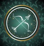 Muestra del zodiaco del sagitario Fotos de archivo libres de regalías