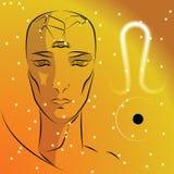 Muestra del zodiaco leo stock de ilustración