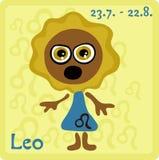 Muestra del zodiaco - Leo Foto de archivo
