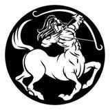 Muestra del zodiaco del sagitario del centauro Imagen de archivo