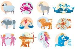 Muestra determinada de la astrología del vector. Foto de archivo libre de regalías