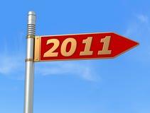 Muestra direccional del Año Nuevo Imagen de archivo