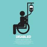 Muestra discapacitada de la enfermedad Foto de archivo
