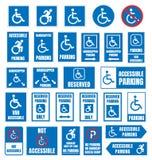 Muestra discapacitada del estacionamiento, estacionamiento accesible ilustración del vector