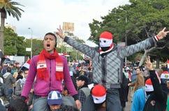 Muestra egipcia de la victoria del flash del protestor Fotografía de archivo libre de regalías