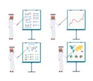 Muestra el proceso de negocio por un indicador en el la stock de ilustración