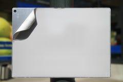 Muestra en blanco fotografía de archivo libre de regalías