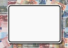 Muestra en blanco con euros ilustración del vector