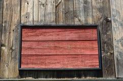 Muestra en blanco de madera del granero en blanco Fotografía de archivo