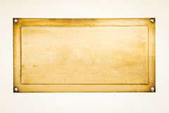 Muestra en blanco de oro Imagen de archivo libre de regalías