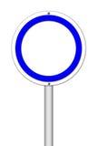 Muestra en blanco del círculo en blanco Foto de archivo libre de regalías