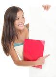 Muestra en blanco del estudiante Imagen de archivo libre de regalías