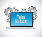 muestra en línea de la tecnología del márketing stock de ilustración