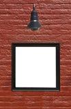 Muestra en la pared de ladrillo Imagenes de archivo
