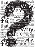 Muestra en una pregunta Fotografía de archivo libre de regalías