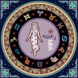 Muestra estilizada del zodiaco libre illustration