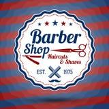Muestra estilizada retra del vector para Barber Shop encendido Imagen de archivo