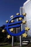 Muestra euro en EZB Fotos de archivo libres de regalías