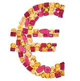 Muestra euro Rich Finance Concept Piedra preciosa del diseño Imagenes de archivo