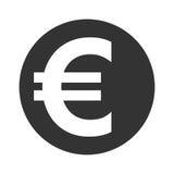 Muestra euro Símbolo de la moneda, de las finanzas, del negocio y de las actividades bancarias Imágenes de archivo libres de regalías