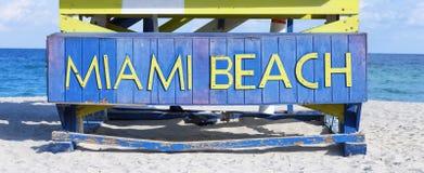Muestra famosa en la playa en Miami Imagen de archivo libre de regalías